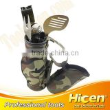 4pcs Golf Style BBQ Tool Set With Zipper Bag