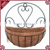 Half Round Shaped Hanging Garden Flower Pots hanging wall baskets