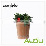 Audu Wooden Planter Pot Planter Box Bucket Barrel
