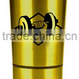 Custom printing logo 24 counce #304 18/8 stainless steel BPA free water bottle detachableshaker protein/whey/supplements/workout