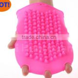 hot eco-friendly five mitten style silicone bath glove