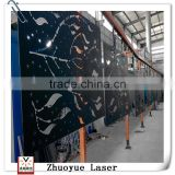 Metal folding screen room divider/movable metal screens room dividers/Customized modern metal screen factory