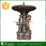 2015 hot sale outdoor large bronze lady fountain
