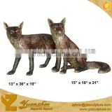outdoor cast brass animal fox statue for sale
