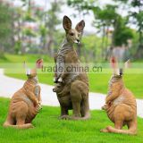 outdoor garden decoration promotion life size resin kangaroo fiberglass animals for sale