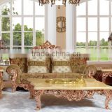 Luxury bronze carving sofa furniture for home hotel