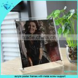 acrylic poster frames with metal screw support