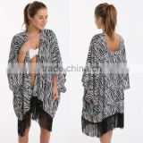Sexy Designer Casual Beach Mini Dresses For Women Summer Long New Printing Pattern Cardigan Beach Seaside Wear Blouse