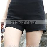 The new fashion ladies summer high waist black shorts fashion leisure straight short pants for women