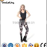 New Fashion Women leggings flowers Printed color legins leggins pant autumn summer legging for Woman trousers