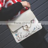 zm50366b wholesale fashion embroidery women bags trendy chain lady single shoulder bag