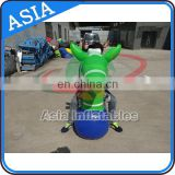 Giant green ear inflatable interactive game pony hops for bouncer
