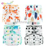 Elinfant velour cloth diapers wholesale china 2 inserts disposable diapers baby reusable AI2 cotton diapers