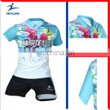 Healong Sportswear Thermal Transfer Sublimation Printing Bowling Shirts For Men Best Design