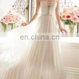 Gathered alibaba new arrival imperial Enchantment Sparkling white Bridal Gown