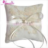 Small mini 10cm Embrodiery Lace Handmade Ivory Ring Bearer Pillow Flower Girl Basket with Lace Wedding Lace Ring Holder