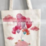Promotion Digital printing colourful pattern canvas tote bag