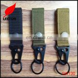 Factory supply custom durable webbing keychain with hook