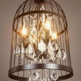K9 crystal Pendant Light & iron pendant lamp used for home,villa, hotel