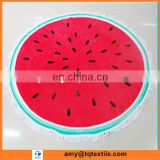 Wholesale 2016 New Round Watermelon Beach Towel With Tassels Fringe