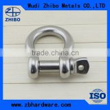 Stainless Steel US Anchor Type Lifting Shackle Lifting Chain Shackles Screw Pin Lifting Bow Shackle