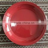 10.5inch ceramic color glazed flat plate
