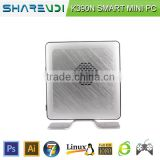 Wholesale Silver Small Intel Celeron 1037U dual core 1.8GHZ not fanless mini pc dual nic support Win OS