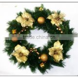 2015 Supplies Deco Mesh Christmas Wreath XMAS Wreath/christmas deco mesh wreath 2013