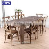 Elm Wood Restaurant Tables Furniture Antique Dining Table                                                                         Quality Choice