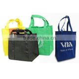 FH 100% Degradable Eco-friendly Advertising Shopping Packaging Non Woven Tote Bag with 4 Handles