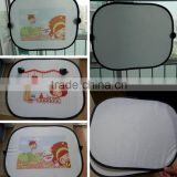 Blank white sublimation car sunshade