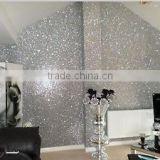 Hot Sell PU Glitter Wallpaper Fabric for Sparkle tv background wall decor