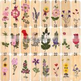 Trade assurance cute recyle natural bamboo flowers handmade bookmark