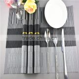 grey baboo shape strip Kitchen Placemat Multi Colored slip resistant table Eco-Friendly PVC Placemats