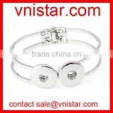 Vnistar metal alloy snap button bangle bracelet fit 18mm snap button charm in stock wholesale NBR003-1