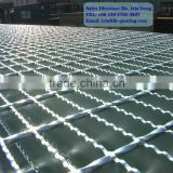 galvanized serrated floor flat bar grating,galvanized bar grating,floor welded drain grates