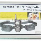 Hot selling electric bark stop collar 300m Remote control dog training collar with LCD display one to two dogs