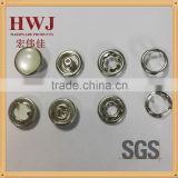333# white transparent pearl prong snap button