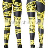 elastic waist digital print leging