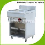 Cosbao stainless steel gas bain marie/food warmer for catering (BN600-G607C stretched surface )