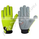 Cycle Gloves,Florescent Green Color Cycling Gloves,Full Fingers Cycling Gloves,Bike Gloves,Custom Bike Gloves