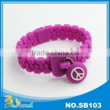Hot fashion custom silicone braided silicone bracelet