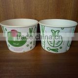 ripple wall custom bio high quality wholesale 500ml paper cup for instant noodle packing