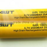 non alkaline batteries 35A 2500mah Aweite 18650 aa battery cell Carbon zinc battery