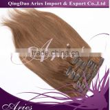 Alibaba Hot Selling Wholesale Peruvian Remy Cheap 100% Human Hair Clip In Hair Extension