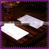 light up menu for restaurant (Patent 2014-2-0239452.0)/ menu cover with sleeves leather custom bar decoration
