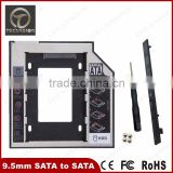 High Quality 9.5mm Universal SATA 2nd HDD SSD Hard Drive Caddy for CD/DVD-ROM Optical Bay EC