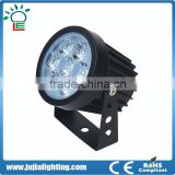 2016 Newest 100% power 3w 7w Led spotlight IP65 Outdoor Light Spot Lamp black body with 3 warranty