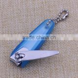 Practical blank metal baby nail clippers/ plastic holder nail clipper for promotion gifts