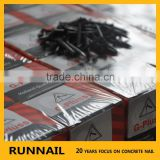 Hardened black concrete steel nails germany manufacturers flat round head diamond point HRC 52